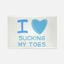 I Heart (Love) Sucking My Toes Rectangle Magnet
