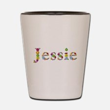 Jessie Bright Flowers Shot Glass