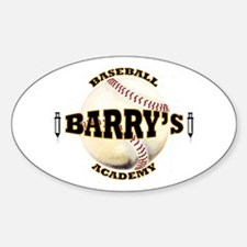 Barry's Baseball 1 Oval Decal