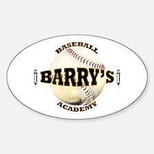 Barry's Baseball 1 Oval Decal