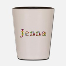 Jenna Bright Flowers Shot Glass