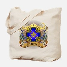 Flores Family Crest Tote Bag