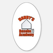 Barry's Baseball 2 Oval Decal