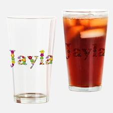 Jayla Bright Flowers Drinking Glass