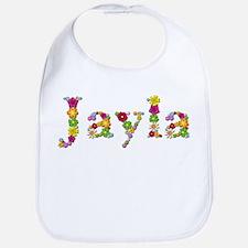 Jayla Bright Flowers Bib