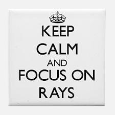 Keep calm and focus on Rays Tile Coaster
