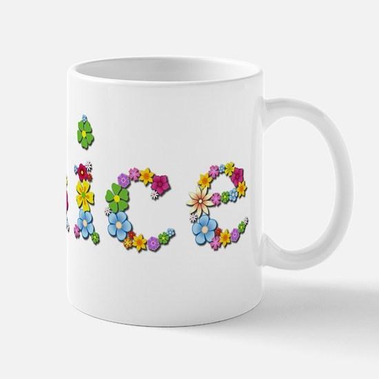 Janice Bright Flowers Mugs
