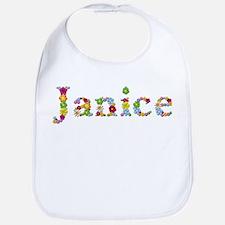 Janice Bright Flowers Bib