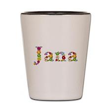Jana Bright Flowers Shot Glass