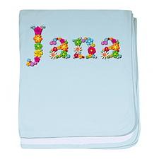 Jana Bright Flowers baby blanket