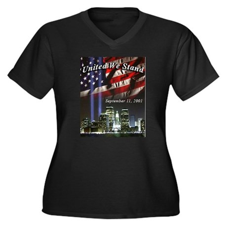 United We Stand II Women's Plus Size V-Neck Dark T