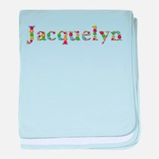 Jacquelyn Bright Flowers baby blanket