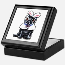 Grumpy Pug Bunny Keepsake Box