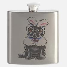Grumpy Pug Bunny Flask