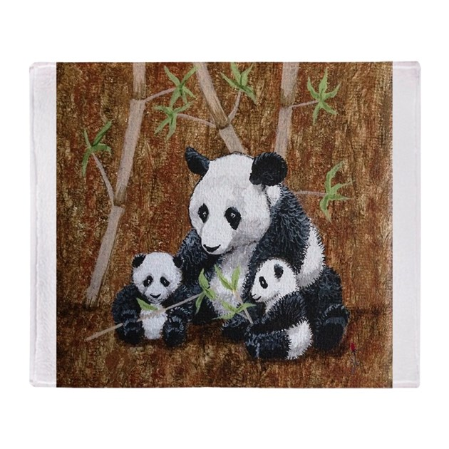 Stephanieam Panda And Cubs Throw Blanket By