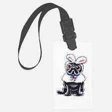 Grumpy Pug Bunny Luggage Tag