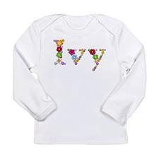 Ivy Bright Flowers Long Sleeve T-Shirt