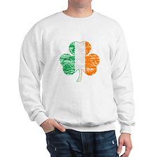 Vintage Irish Flag Shamrock Sweatshirt