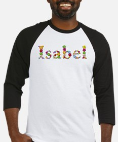 Isabel Bright Flowers Baseball Jersey