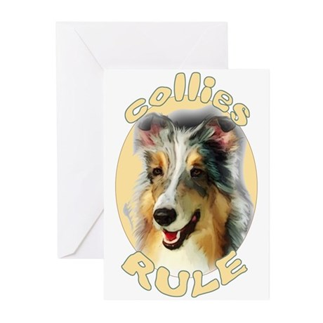 collies rule Greeting Cards (Pk of 10)