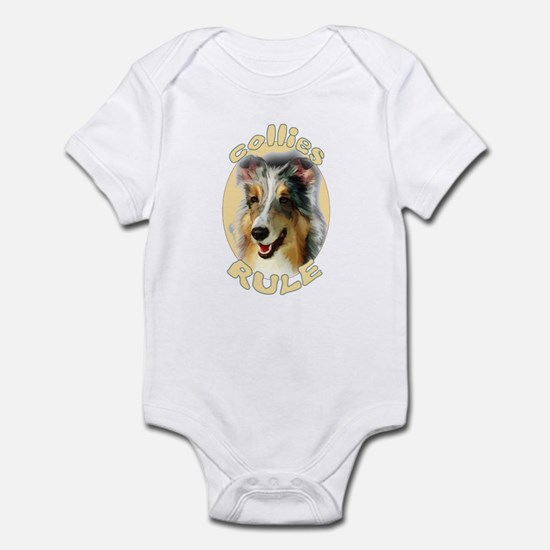 collies rule Infant Bodysuit