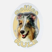 collies rule Oval Ornament