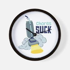 Chores Suck Wall Clock