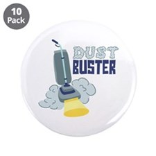 """Dust Buster 3.5"""" Button (10 pack)"""
