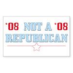 08 Anti-Republican Rectangle Sticker