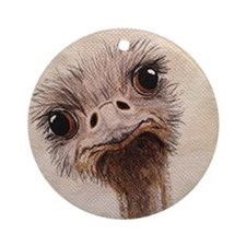 StephanieAM Ostrich Ornament (Round)