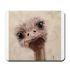 StephanieAM Ostrich Mousepad