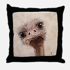 StephanieAM Ostrich Throw Pillow