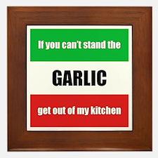 Garlic Lover Framed Tile