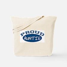 Proud Auntie (Blue) Tote Bag