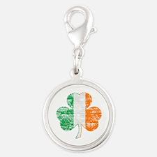 Vintage Irish Flag Shamrock Charms