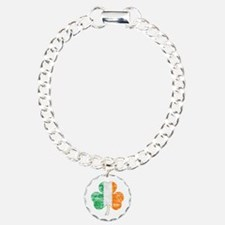 Vintage Irish Flag Shamrock Bracelet