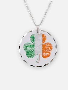 Vintage Irish Flag Shamrock Necklace