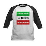 Jalapeno Lover Kids Baseball Jersey