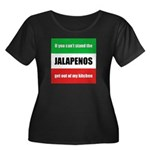 Jalapeno Lover Women's Plus Size Scoop Neck Dark T