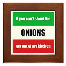 Onion Lover Framed Tile