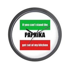 Paprika Lover Wall Clock