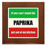 Paprika Lover Framed Tile