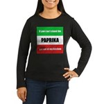Paprika Lover Women's Long Sleeve Dark T-Shirt