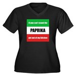 Paprika Lover Women's Plus Size V-Neck Dark T-Shir