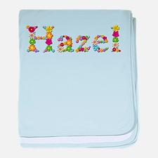 Hazel Bright Flowers baby blanket