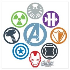 Avengers Icons Wall Art Poster