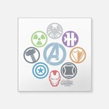 "Avengers Icons Square Sticker 3"" x 3"""