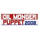 Oil Monger 2008 Bumper Sticker