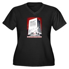 Books Are Weapons Women's Plus Size V-Neck Dark T-