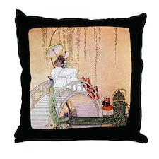 Moon Bridge in the Chinese Garden Throw Pillow